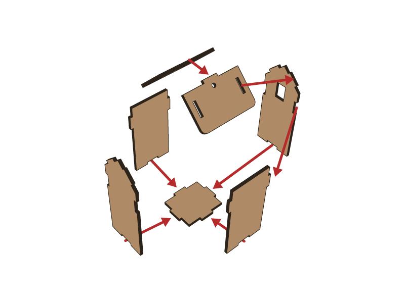 Lasercut - Farm Building Tall V1 - Setup 1