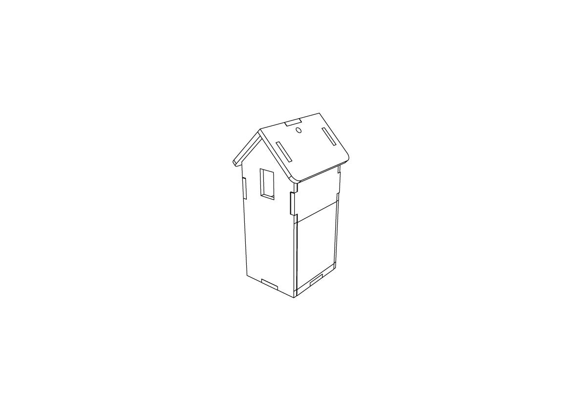 Lasercut – Farm Building Tall V1 – Thumb